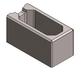 Endstein 40x40x20 cm