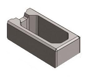 Endstein (Mini) 40x20x10 cm