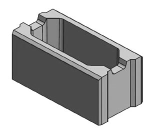 Ganzer Stein 40x20x20 cm