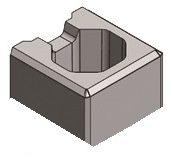 Halber Stein (Mini) 20x20x10 cm